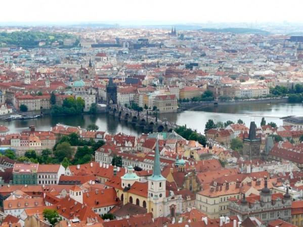Aussicht auf Prager Altstadt mit Karlsbrücke