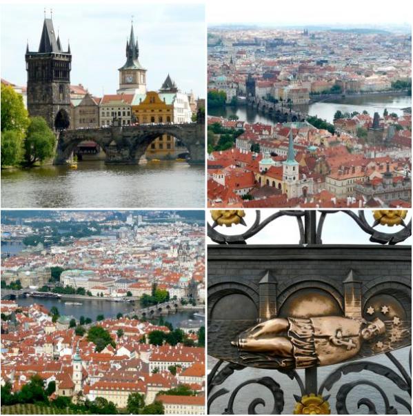 Impressionen von der Karlsbrücke in Prag
