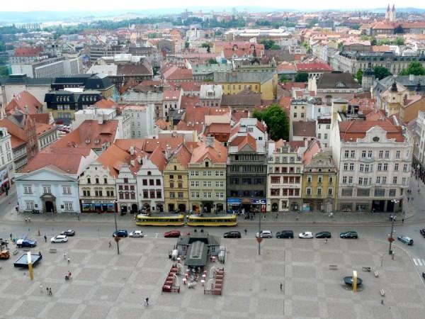 Rathaus von Pilsen am Platz der Republik