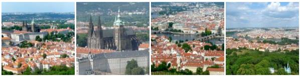 Impressionen von Prag vom Petrin Hügel