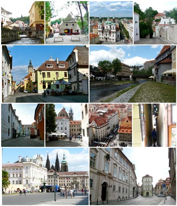 Straßen und Gassen in Tschechien