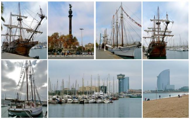 Am Port Vell in Barcelona