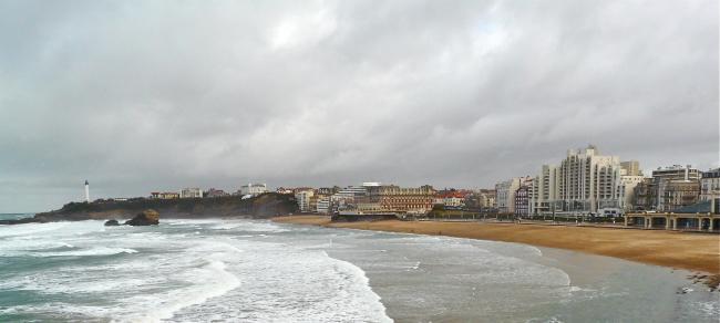 Mittagessen in Biarritz