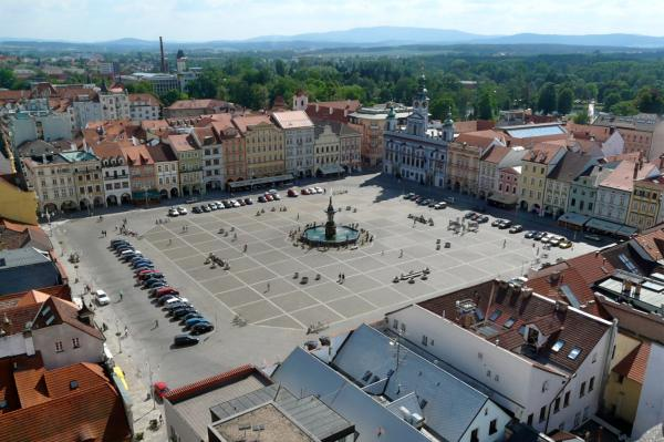 Rathausplatz in Budweis