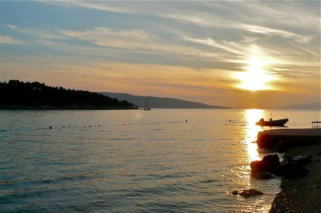 Sonnenuntergang auf der Insel Cres