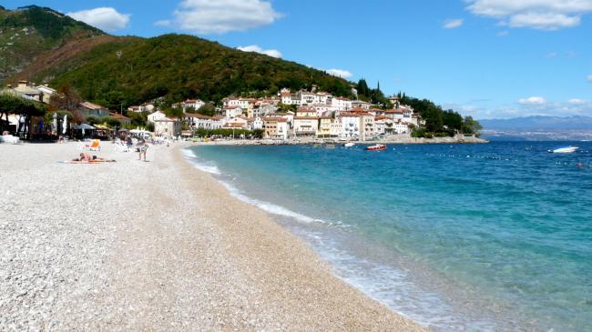 Strand von Mošćenićka Draga