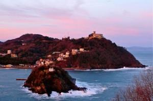 San Sebastian - Monte Igueldo und Insel Santa Clara