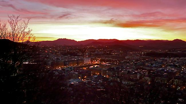 San Sebastián Sonnenaufgang