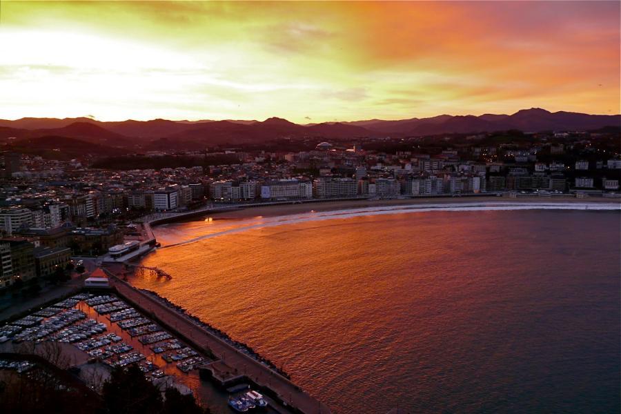 Sonnenaufgang in San Sebastián