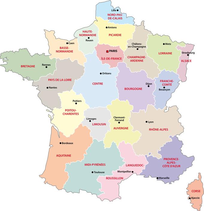 Frankreich und seine Regionen