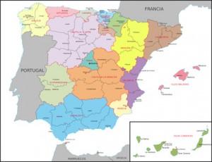 Spanien auf der Karte