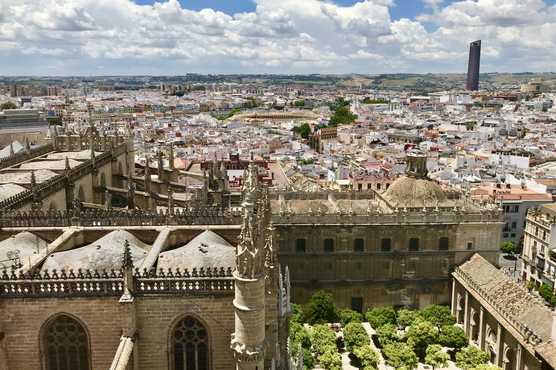 Ausblick La Giralda über Sevilla
